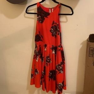 Free People Red Floral Dress